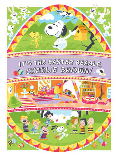 It's the Easter Beagle, Charlie Brown limited edition prints by Dark Hall Mansion