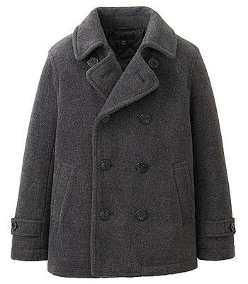 Uniqlo For Kids unisex pea coat