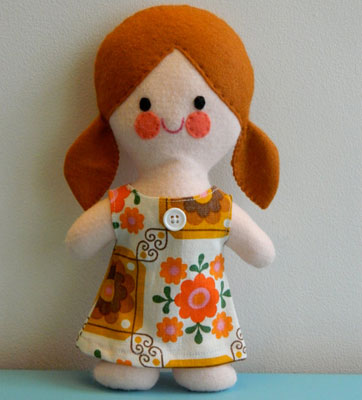 Peggy Retro Doll by Alice Apple