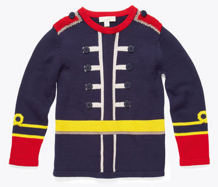Stella McCartney Sgt. Pepper's-style Snoops cashmere military jumper