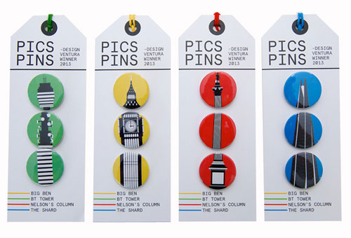 Pic Pins London Badges
