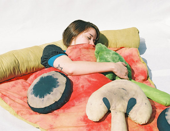 Slice of Pizza Sleeping Bag by Bfiberandcraft at Etsy
