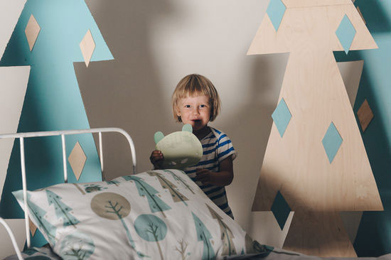 Talviuniset Scandinavian children's bedding by Polkka Jam