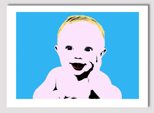 Personalised pop art portrait for children by Artybit