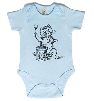 Postcard Records babygrows and t-shirts for kids