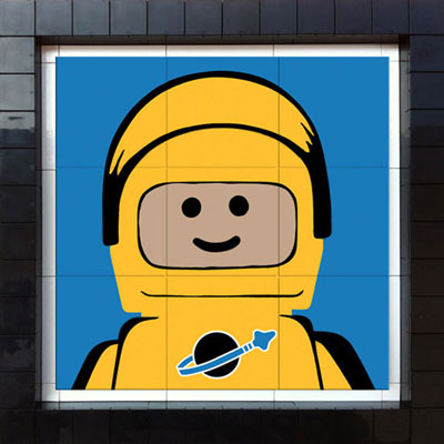 Prototype Spaceman limited edition Lego tile artwork by AME72