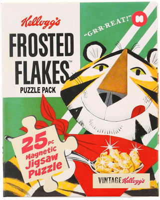 Kellogg's classic cereals puzzle packs by Mustard