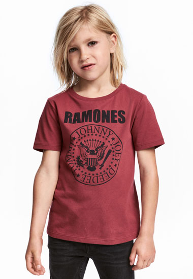 Classic Ramones t-shirt in red at H&M