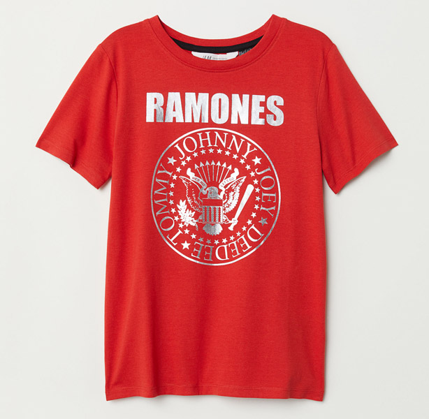 H&M brings back classic Ramones t-shirt returns in red
