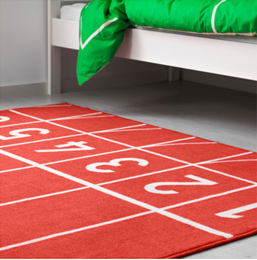 Junior athlete: Springa rug for kids at Ikea