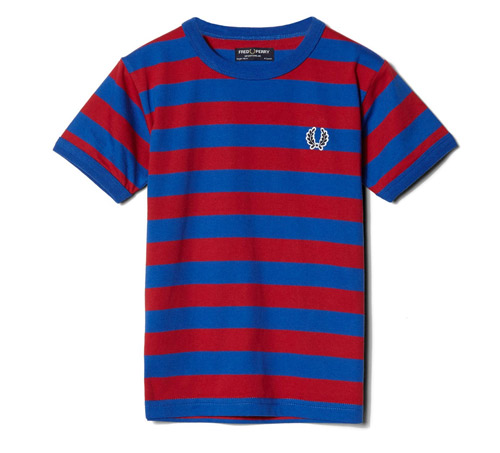 Vintage-style Ringer T-Shirt for kids by Fred Perry