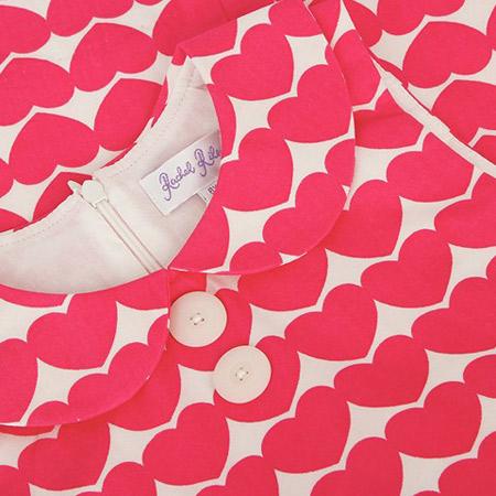 1960s-style heart print shift dress by Rachel Riley