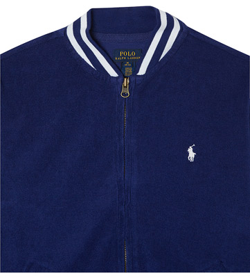 Ralph Lauren towelling baseball jacket