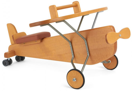 Moulin Roty Classic Wooden Ride-On Plane