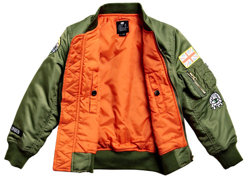 The London MA-1 Jacket for kids by Ruff and Huddle
