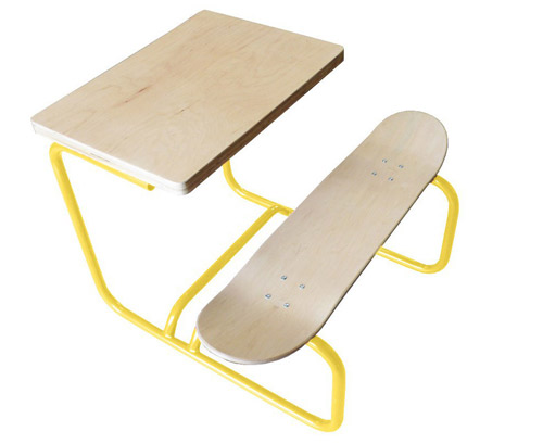 Handmade skateboard desks by Skateboard desk by Lecons de Choses