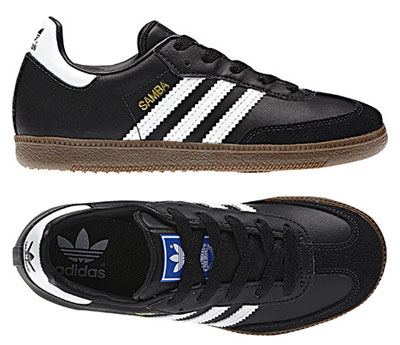 Adidas Samba trainers in black and white for kids
