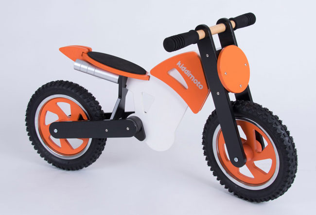Scrambler balance bike by Kiddimoto