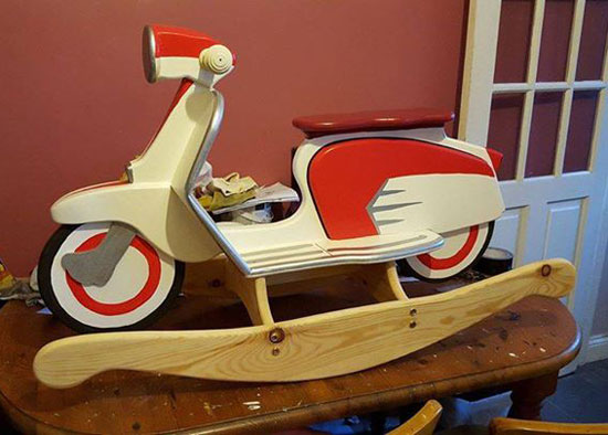 One-off classic: Custom-made rocking Lambretta SX scooter