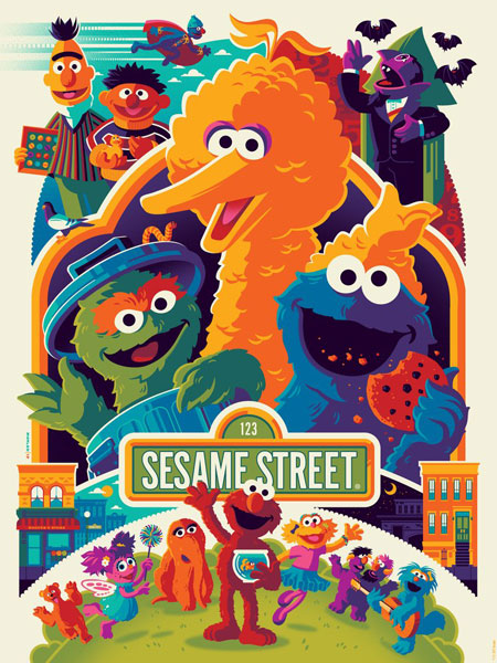 Limited edition Sesame Street screen prints by Tom Whalen