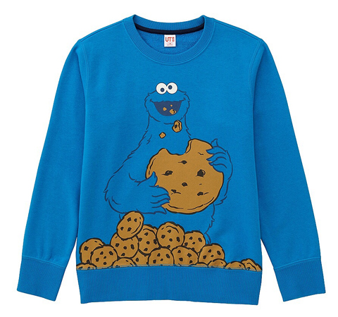 Sesame Street sweatshirts for kids at Uniqlo