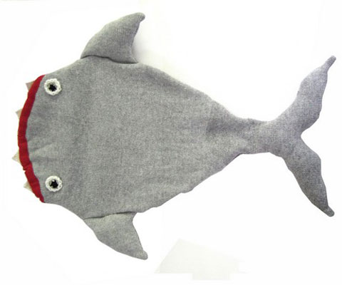 Shark Sleeping Bag by Luna & Curious x The Miniature Knit Shop