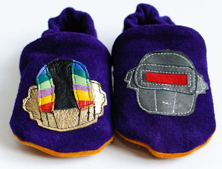 Indie and classic rock baby shoes by Mrs Bojingles
