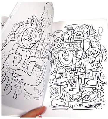 Colour Me Silly 2 colouring book by Jon Burgerman
