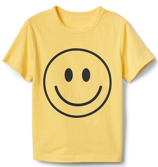 Smiley short-sleeve t-shirt for kids at Gap
