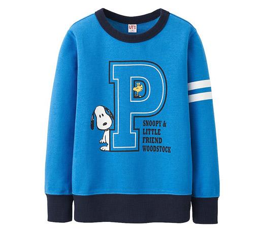Peanuts sweatshirts for kids at Uniqlo