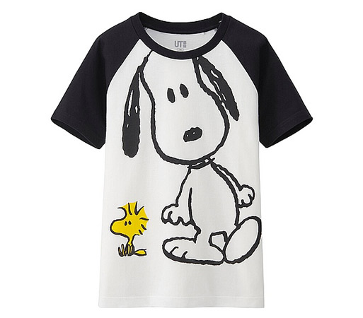 Peanuts t-shirts for kids at Uniqlo
