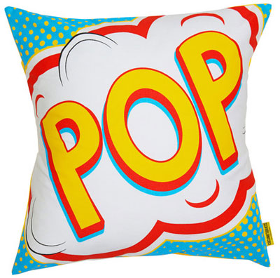 Snap, Crackle and Pop comic book cushions by Coconutgrass
