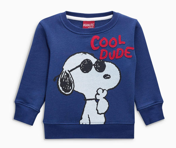 Snoopy crew neck sweater at Next