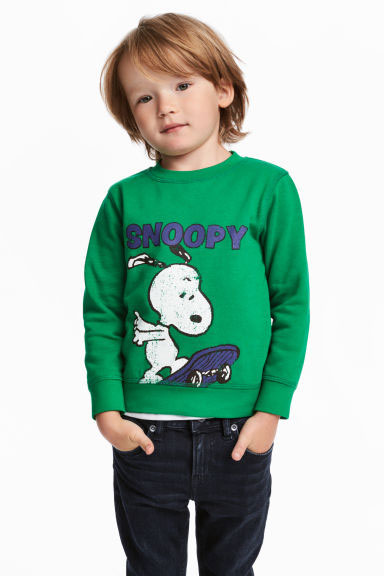 Vintage-style Snoopy sweatshirt at H&M