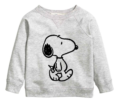 Snoopy sweatshirt at H&M Kids