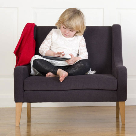 Retro-style child's sofa by Treasure Chairs