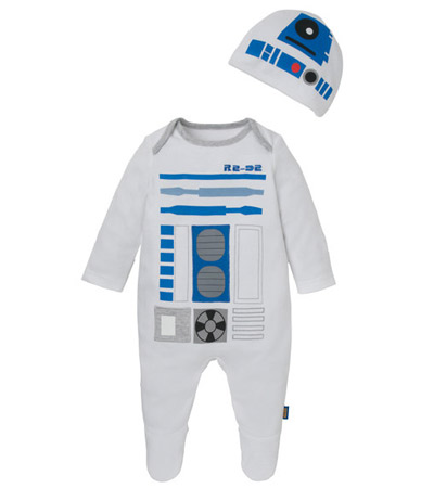 Geek baby: Star Wars R2-D2 and Stormtrooper babygrows