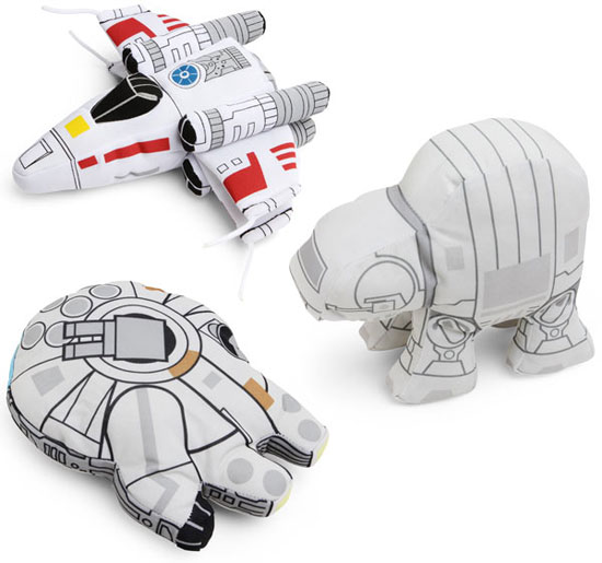 Star Wars Plush Vehicles at ThinkGeek
