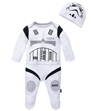 Geek baby: Star Wars R2-D2 and Stormtrooper babygrows