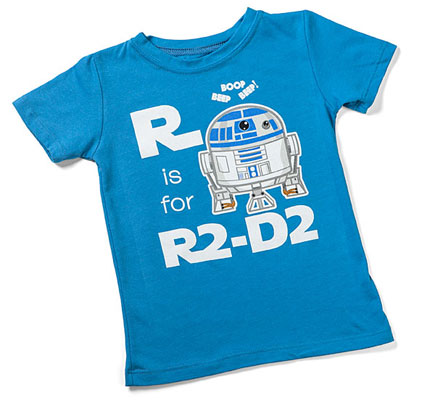 S is for Star Wars toddler t-shirts