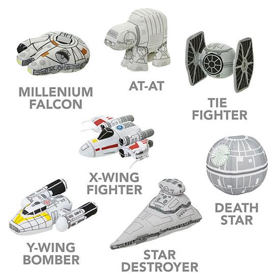 Star Wars Plush Vehicles at ThinkGeek