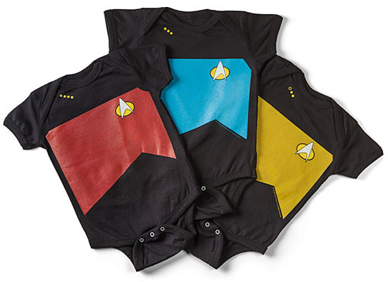Geek baby: Star Trek TNG Uniform Bodysuits