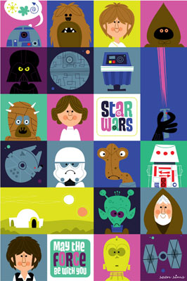 Star Wars Kindergarten print by Sean Sims