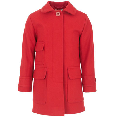 Stella McCartney Kids Red Pocket Coat