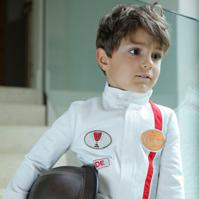 Steve McQueen style for kids: Baghera Racing Driver Costume