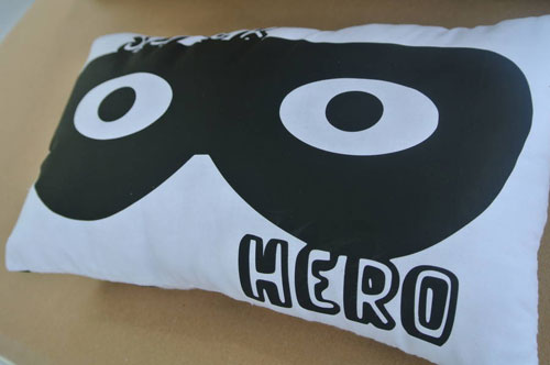 Super Hero Cushion by Pink Biscuits