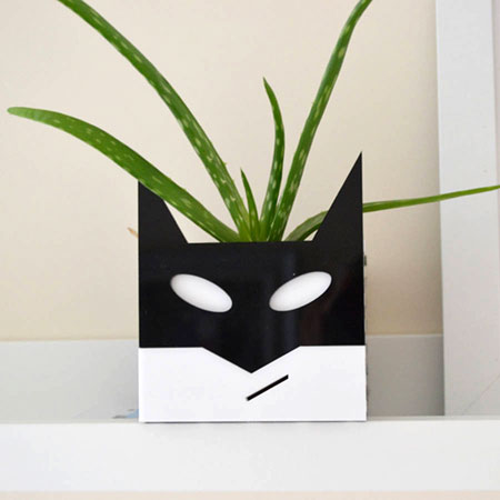 Superhero planters by Erinnies