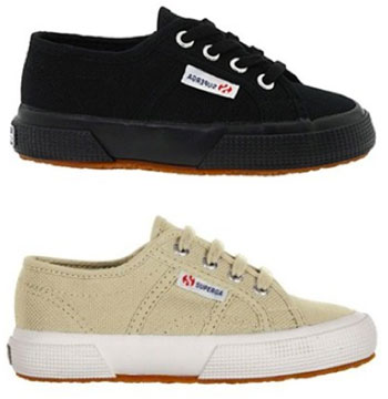 Classic Superga plimsolls for kids