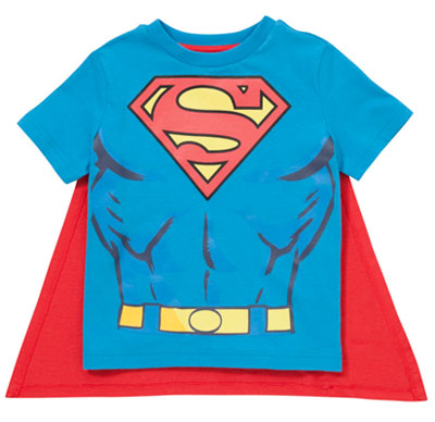 DC Comics Superman T-Shirt with Removable Cape