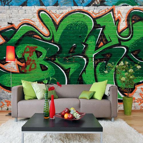 Graffiti Wallpaper by Watts London at Bouf